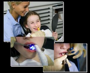 Professionelle Zahnreinigung Kind Mund Lachen